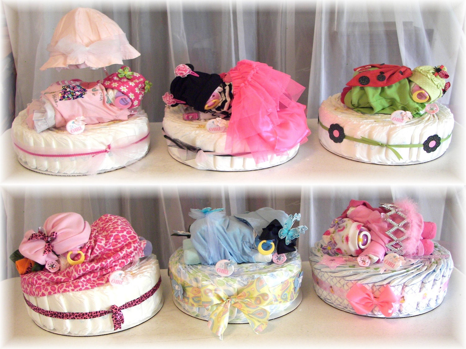 Diaper Cake Diaper Baby & Cake Custom YOU Pick