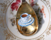 Adorable Ring Tiny Afternoon Tea Cup Porcelain Food Dollhouse Miniature Jewelry Ring