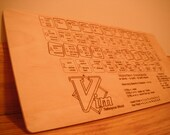 VIM Reference Wood Card - VI Editor - Laser Engraved Magic