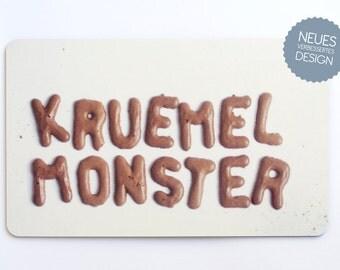 """Breakfast Board """"Cookie Monster"""" (German)"""