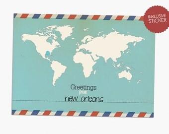 """Postcard - """"Globetrotter"""""""