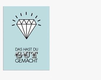 "Postcard - ""Well Done"" (German)"