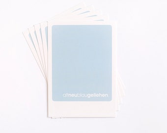 "Postcard ""altneublaugeliehen"" (Set of 5) (German)"