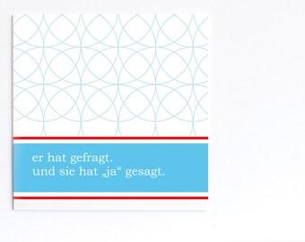 Fresh Wedding Invitation (Set of 5) (German)