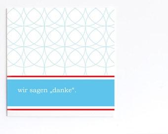 Fresh Wedding Thank you Cards (Set of 5) (German)