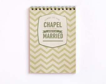 "Note Pad ""Going to the Chapel"""