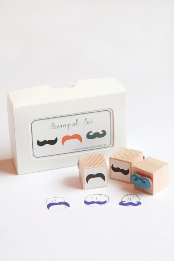 "Rubber Stamps ""Moustache Parade"" (Set of 3)"