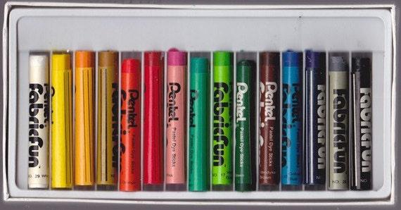 Fabric Markers Pastel Dye Sticks 15 Colors Pentel Fabric Fun