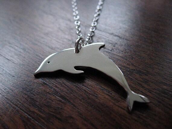 Dolphin Silver Pendant Necklace