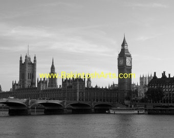 Big Ben -  5x7 black and white photograph matted to 8x10