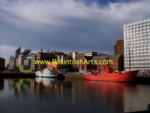 Albert Dock Liverpool   - 5x7 photograph mated to 8x10