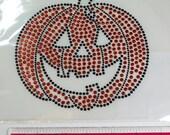 Pumpkin- Bling- Halloween Iron On Transfer