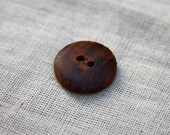Wooden Natural Buttons Vanila / Brown 10 pcs from Nepal