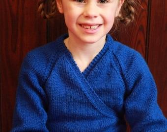 Ballet Shrug - Crossover Cardigan - hand knit ballet cardigan - knit ballet wrap - hand knit to order