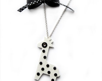GIRAFFE NECKLACE with DOTS