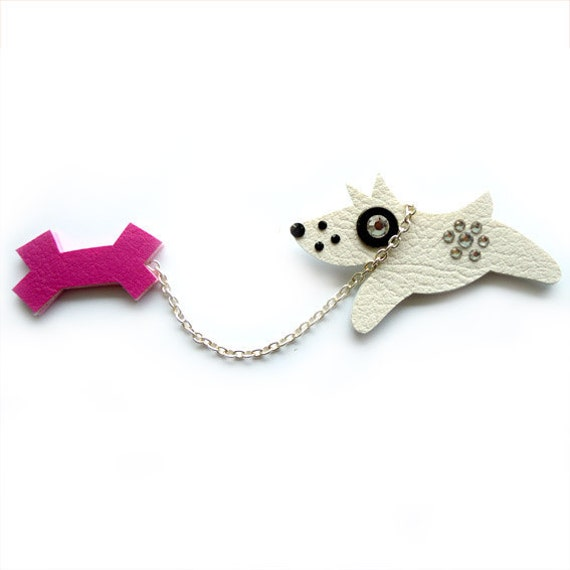 DOUBLE DOG BROOCH