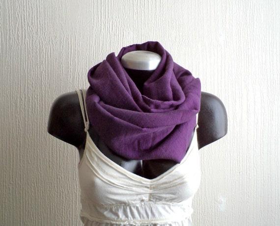 Infinity scarf, Deep purple chiffon ,eggplant color,EXTRA WIDE,lightweight, READY To SHIp.