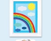 Rainbow - Digital Printable Nursery Wall Art by Nahhan73 (NA-004)