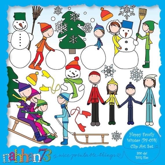 Happy Family: Winter - Clip Art Set (PF-014)