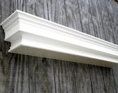 Custom wall hanging shelf -  large white wall shelf