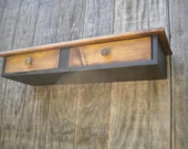 Floating wall desk - Distressed Cottage Accent entryway Hall table