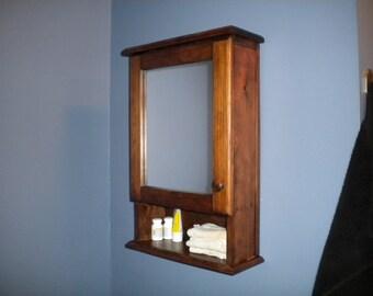 Mirrored bathroom medicine cabinet
