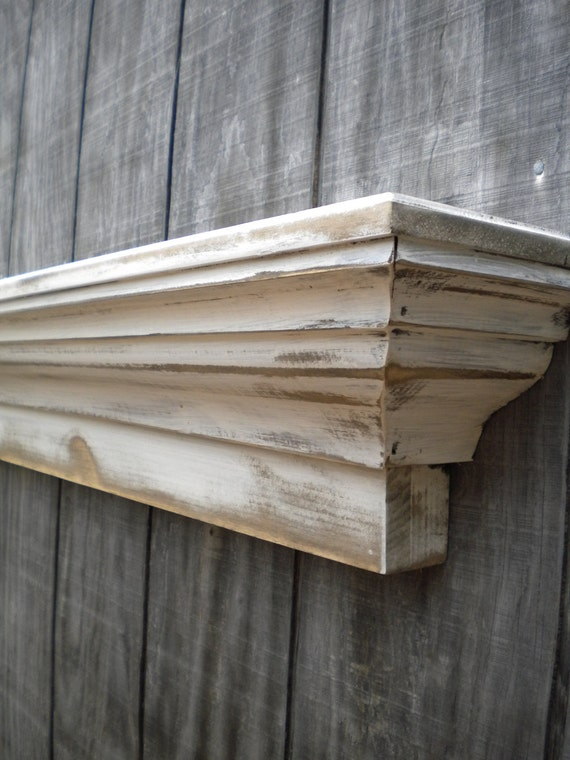 Items Similar To Rustic Floating Wall Shelf Distressed