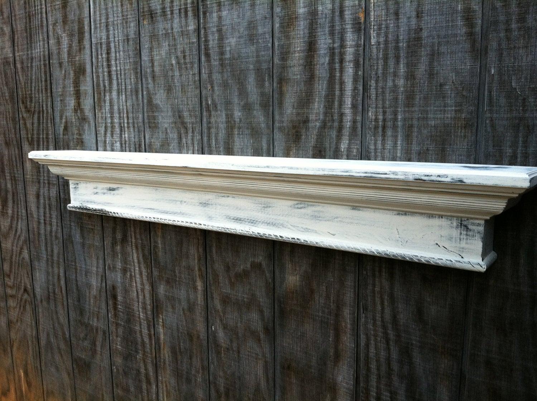 Items similar to unique distressed wall shelf custom
