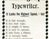 TREASURY ITEM-1894-Magazine Ad Page featuring Writing Machines of long ago