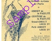 Digital Downloads-1902 French Ad for Corsets-Nouvelles Creations-Clipart