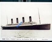 Digital Download-R.M.S. Titanic-Vintage Real Photo Postcard