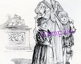 Digital Download-Vintage Clipart from 1887-Royal Children and Nanny