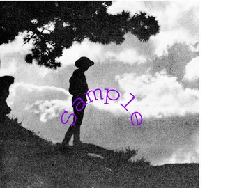 Digital Download-Maine Farm Boy in Silhouette