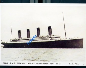 Digital Download-R.M.S. Titanic-Vintage Real Photo Postcard