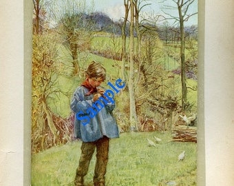 Digital Download-The Penny Whistle-Vintage Print by M.E. Gray