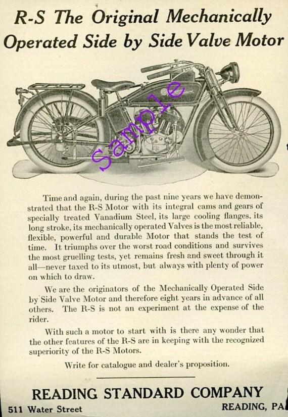 Digital Download-Vintage Ad for Reading Standard or RS Motorcycles