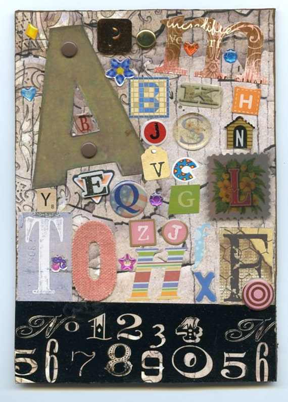 Handmade by Lolly-ABCediary Collage for those who love the Alphabet