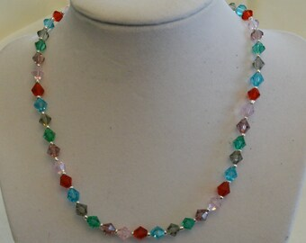 Sale!  Colorful Crystal Necklace