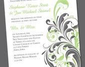 Stephanie Wedding Invite or Engagement Announcement Digital Download
