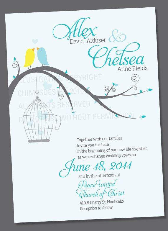 Chelsea Wedding Invite or Engagement Announcement Digital Download
