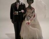 Vintage Style Zombie Wedding Cake Topper