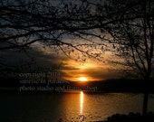 PERFECT PEACE ----- Sunrise Photo 8x10, Fine Art Photography, Home Decor  ( Through the Darkness )