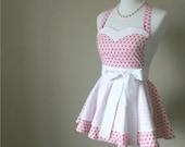 Womens Apron - Pink Retro style apron
