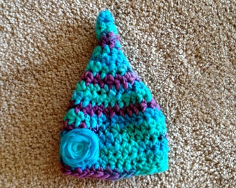 Instant Download - Pixie Hat Crochet Pattern - thick and thin yarn