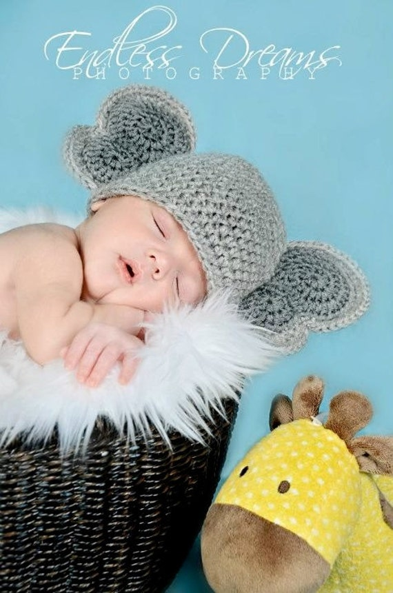 Instant Download PDF Crochet PATTERN Elephant Earflap by ...