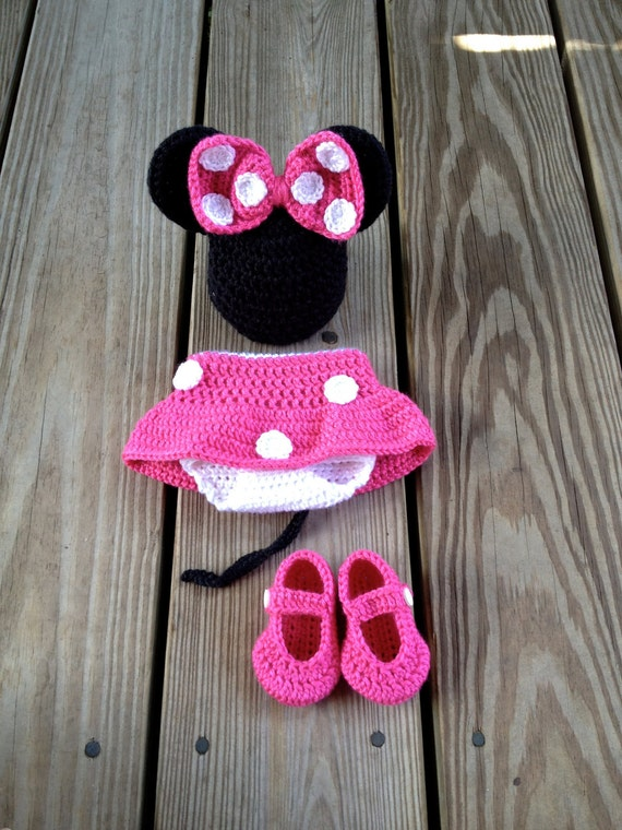 Instant Download PDF Crochet Mouse Outfit Photo Prop Set - 3 Patterns in 1 - 0 to 18 Months - Photography Prop