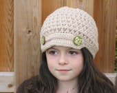crochet newsboy hat girl preteen  CLEARANCE save 50% use coupon code CLEAR50
