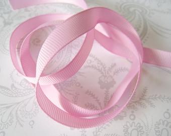 Pink Grosgrain Ribbon 3/8 -- 9 yards -- American Crafts -- Bubblegum -- 58461 -- 9.5mm