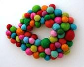 Gorgeous hand-dyed woolen custom order pompom collar