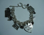 Half My Heart is Deployed - Military Charm Bracelet w/ Choice of Charms